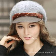 Fashion Women Wool Paked Cap