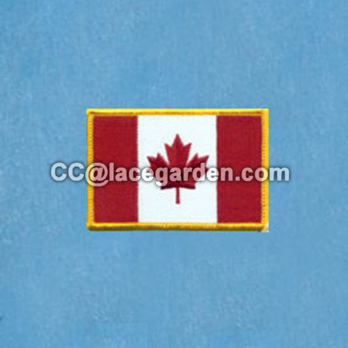 Classical Flag Design Merrowed Embroidery Patches