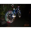 glow in the dark reflective bike wheels spokes