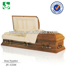 Classic American solid wooden coffin casket for burial
