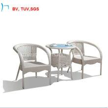 Table de salle à manger extérieure de rotin de meubles de jardin avec le verre clair (1823T)