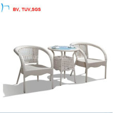 Garden Furniture Outdoor Rattan Dining Table with Clear Glass (1823T)