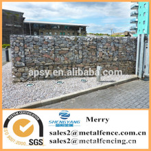 1.5mX1mX1m galvanized Galfan 3mm uplit Gabion stone basket fence for apartment block perimeter