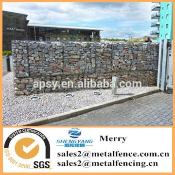 1.5mX1mX1m galvanized Galfan 3mm uplit Gabion stone basket fence for apartment block perimeter