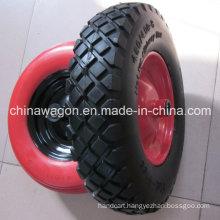 """16"""" Flat Free Wheel PU Foam Wheel for Wheelbarrow"""