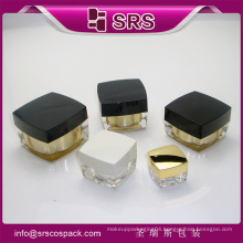 SRS 2015 wholesale square shape luxury hydro face cream jar