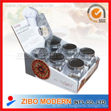 Spice Set with Metal Lid