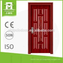 Exportación de productos de calidad superior Aislamiento térmico de madera tallado puertas de fuego
