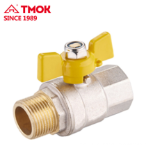 FxM thread forging brass gas ball valve Dn20