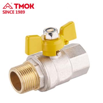 FxM thread forging brass gas ball valve Dn20