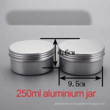 250g de mano / cuerpo crema de aluminio tapón de tornillo contenedor / tarro / latas