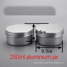 250g Hand/ Body Cream Aluminium Screw Cap Container/Jar/Cans