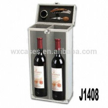 Nova chegada! caixa de vinho dom de alumínio profissional para 2 garrafas
