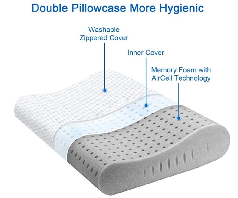 Charcoal Contour Pillow 3d