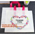Soft Loop Handle Carry Bags /Rigid Handle Bags/Custom Loop Handle Plastic Bags, Factory Wholesale Custom Logo Printed Flat Botto