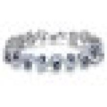 Bracelete chapeado da platina do zircônia cúbico do cristal de rocha de Bling para o casamento das mulheres