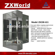 ZXC08-611 Full Glass Sightseeing Passenger Elevator