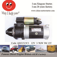 3.7kw 12V 3m 12teeth Starter Motor Parts for Engine Yc1125