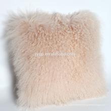 Coussin en tissu de fourrure d'agneau tibétain nouveau-né