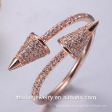 Anillo de latón antiguo semi anillo de montaje para el compromiso