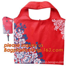 tote bag polyster tote bag, Polyster eco shopping bag foldable with zipper, Promotion Polyster Foldable Shopping Bag In Small Po