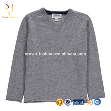 Children Boys Vneck Pullover Crochet Cashmere Sweater Knitwear