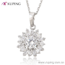 Fashion Xuping Luxury Big CZ Stone Rhodium Imitation Jewelry Pendant 30210