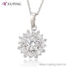 Мода Xuping роскошный большой CZ камень Родием бижутерия Кулон 30210