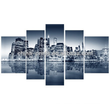 Cityscape Painting 5 Panel Canvas Art