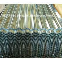 Galvanizum tôle ondulée en acier de toiture