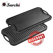 Pre-Sesoned Cast Iron Reversible Grill/Griddle Pan