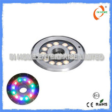 Super bright DMX 12W IP68 underwater light, ss 316 pool light led underwater light