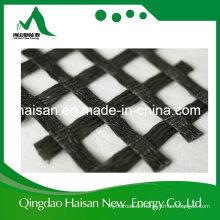China Lieferant PVC-Beschichtung 100-100 Kn / M Warp gestrickte Polyester Pet Geogrid für Roadbed