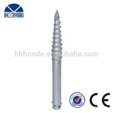 Feuerverzinkter Stahl Q235 Solar-Bodenschraube mit 3 Muttern