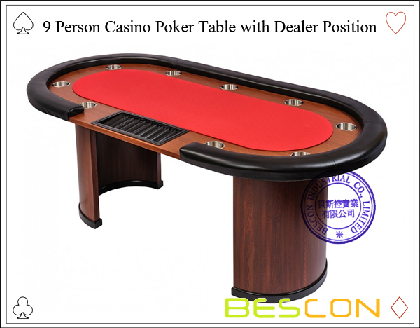 9 Person Casino Poker Table with Dealer Position-2
