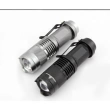 Мини-зум фонарик карманный светодиодный фонарик