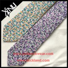 Étiquette privée Slim coton imprimé nouvelles cravates concepteur floral