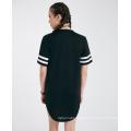 Custom Cotton Number Printed Hot Wholesale Black Summer Fashion Women T Shirt