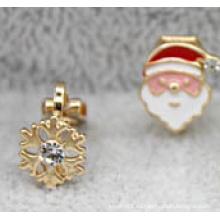 Joyería navideña / Pendiente navideño / Navidad nieve (XER13364)