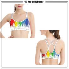 OEM Poliéster / Nylon personalizado sin costura mujer deportes sujetador
