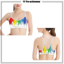 OEM Polyester / Nylon Custom Seamless Women Sports Bra