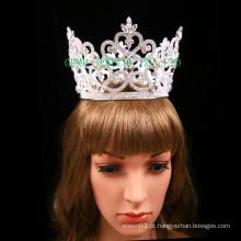Clear Stone Tiara Coroa de strass completo para Pageant