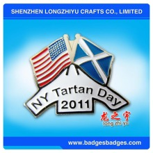 New York Tartan Day American Flag Abzeichen