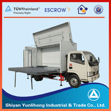 movable stage truck / mobile road show truck / dongfeng mobile stage truck