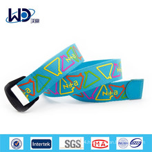 Double D Rings Print Canvas Web Belts