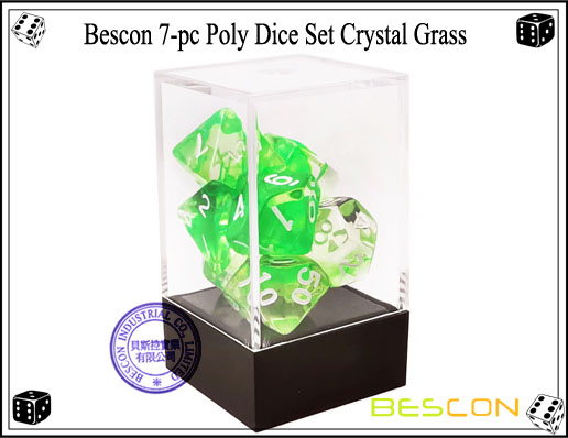 Crystal Green Dice Set-3