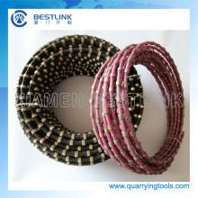 Corda de fio de diamante de manufatura de China para pedreiras de granito