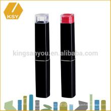 Private label cosméticos caja de plástico delgado lápiz labial contenedor