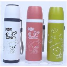 Hermosa botella portátil creativa, taza de vacío de acero inoxidable para niños