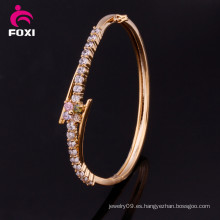 Brazalete de las señoras del nuevo diseño de la joyería del oro plateado de la manera